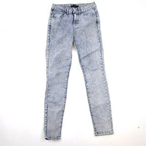 FOREVER 21 street faded wash skinny jeans 26